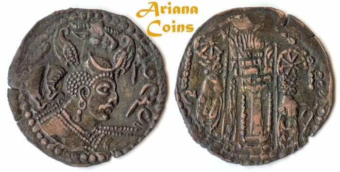 Ancient Coins - Hunnic Tribes, Nezak Huns, Napki Milka, Kabul mint, AD 515-650 AD Æ Drachm. Extremely Rare in this condition 1 in 100s