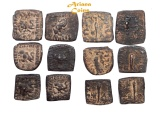 Ancient Coins - Indo-Greek Kingdom. Menander I Soter. Circa 155-130 BC. Lot of 6 AE Units