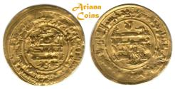 Ancient Coins - Islamic, Samanid, Nuh bin Mansur ( نوح بن منصور 365-387h), Gold/Dinar. Herat 377h