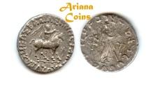 Ancient Coins - Indo-Skythians, Azes. Circa 58-12 BC. AR Tetradrachm