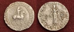 Ancient Coins - Indo-Skythians, Azes. Circa 58-12 BC. AR Tetradrachm.