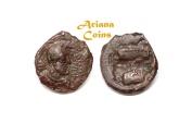 Ancient Coins - Kushano Sasanians, Ohrmazd (Hormizd) I Kushanshah. Circa AD 265-295. AE Unit. Gandhara mint. Nice example.