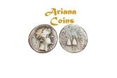 Ancient Coins - Baktrian Kings. Eukratides I. Circa 170-145 BC. AR Obol