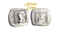 Ancient Coins - Indo-Greek Kingdom. Philoxenos. Circa 100-95 BC. AR Drachm