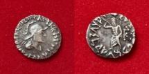 Ancient Coins - Indo-Greek Kingdom. Archebios Dikaios Nikephoros. Circa 90-80 BC. AR Drachm.
