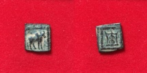 Ancient Coins - Bactrian Kings. Apollodotus I. Circa 175-165 BC. AE Chalkous. Natural beauty
