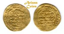 Ancient Coins - Ghaznavid. Mahmud Ibn. Sebuktagin.(as independent ruler, 388-421 H). Heavy Gold Dinar. Nieshapur, 392 AH. RARE