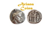 Ancient Coins - Kings of Persis, Vadfradad (Autophradates) II. Early-mid 2nd century BC. AR Drachm. Rare