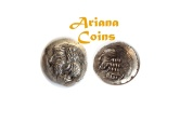 Ancient Coins - Kings of Persis, Pakor II. 1st century AD. AR Obol.