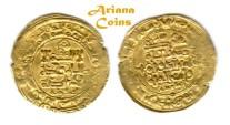Ancient Coins - Ghaznavid. Mahmud Ibn. Sebuktagin.(as independent ruler, 388-421 H). Gold Dinar. Ghazna 407h.