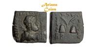 Ancient Coins -  Indo-Greek Kingdom. Antialkidas. Circa 115-95 BC. AE Square Hemiobol