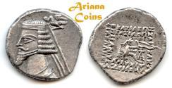 Ancient Coins - Parthian King. Phraates IV. Circa 38-2 BC. AR Drachm. Ekbatana mint, Superb