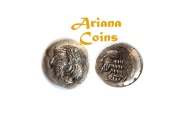 Ancient Coins - Kings of Persis, Pakor II. 1st century AD. AR Obol.