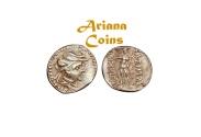 Ancient Coins - Baktria, Greco-Baktrian Kingdom, Demetrios I Aniketos. Circa 200-185 BC. AR Obol