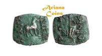 Ancient Coins - Indo-Skythians, Maues. Circa 90-60 BC. AE Unit.