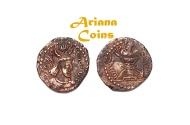 Ancient Coins - Kushano Sasanians, Peroz II Kushanshah, AD 325-330. AE Unit. Nice example