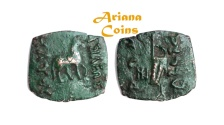 Ancient Coins - Indo-Skythians, Maues. Circa 90-60 BC. AE Unit.