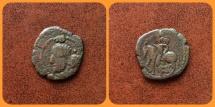 Ancient Coins - Kushano Sasanians, Kings of Merv under Shapur I AD 240-270. AE unit. Extremely RARE