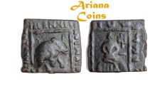 Ancient Coins - Indo-Skythians, Maues. Circa 90-60 BC. AE Unit. A very nice example of this type.