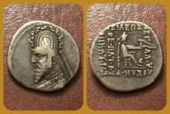 Ancient Coins - Parthian Kings, Sinatrukes. 93-70 B.C AR Drachm. Ekbatana mint