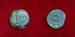 Ancient Coins - Baktria, Greco-Baktrian Kingdom. Euthydemos I. Circa 225-200 BC. AE Unit.