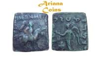 Ancient Coins - Indo-Scythians, Maues. Circa 90-60 BC. AE Unit.