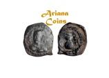 Ancient Coins - Hunnic Tribes, Alchon Huns. Khingila. Circa AD 440-490. Æ Unit. Very Rare.