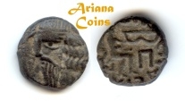 Ancient Coins - Indo-Parthian, Gondopharid Dynasty. Sanabares. Usurper, mid 1st century AD. AE Drachm