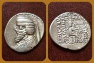 Ancient Coins - Parthian Kings, Phraates III 70-57 B.C AR Drachm. Margian mint. Very Rare.