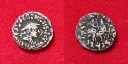 Ancient Coins - Indo-Greek Kingdom. Antialkidas Nikephoros. Circa 130-120 BC. AR Drachm
