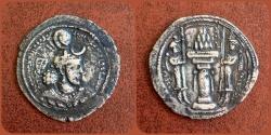 Ancient Coins - Sasanian Kings. Yazdgird (Yazdgard) I. AD 399-420. AR Drachm