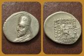 Ancient Coins - Parthian Kings, Orodes I 90-80 B.C. AR Drachm, Rhagai mint. Superb.