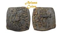 Ancient Coins - Indo-Scythians, Azilizes. Circa 57-35 BC. AE Unit. Rare