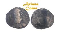 Ancient Coins - Hunnic Tribes, Alchon Huns, Khingila. Circa AD 440-490. AR Drachm
