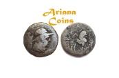 Ancient Coins - YUEH-CHI. Sapadbizes. Late 1st century BC. AR Hemidrachm