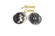 Ancient Coins - Baktrian Kings. Eukratides I. Circa 170-145 BC. AR Obol. Superb