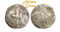 Ancient Coins -  Indo-Skythians, Azes II. Circa 35-12 BC. Tetradrachm.