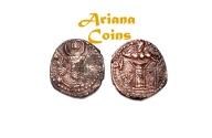 Ancient Coins -  Kushano Sasanians, Peroz II Kushanshah, AD 325-330. AE Unit. Superb