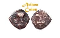 Ancient Coins - Kushano Sasanians, Peroz I Kushanshah. Circa AD 250-265. AE Unit. Gandhara type