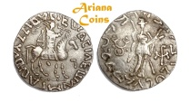 Ancient Coins -  Indo-Skythians, Posthumousm Azes II. Circa 35-12 BC. Tetradrachm. Superb