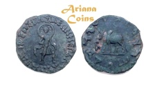 Ancient Coins - Indo-Skythians, Maues. Circa 90-60 BC. AE. Taxila mint. Extremly Rare