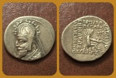 Ancient Coins - Parthian Kings, Phraates III 70-57 B.C AR Drachm. Rhagae mint.