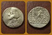 Ancient Coins - Parthian Kings, Orodes II. 57-38 BC. AR Drachm. Mithradatkart mint.
