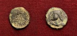 Ancient Coins - Indo-Skythians, Parata Rajas. Spajhama?. 1st century AD. AE Drachm. Lovely example.