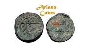 Ancient Coins - Islamic, Great Mongols, Chingiz Khan. 602-624 AH (1206-1227AD). AE Jital. Kurraman mint
