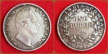 Ancient Coins - British India, William IV. 1830-1837. AR Rupee. 1835