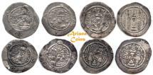 Ancient Coins - Sasanian Kings. Hormizd IV. AD 579-590. Lot of 4 AR Drachms.