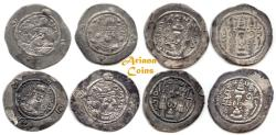 Ancient Coins - Sasanian Kings. Hormizd IV. AD 579-590. Lot of 4 AR Drachms.
