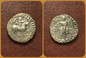 Ancient Coins - Indo-Skythians, Azes II. Circa 35-12 BC. AR Drachm. Rare