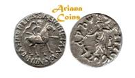 Ancient Coins - Indo-Skythians, Vonones, with Spalahores. Circa 75-65 BC. AR Tetradrachm